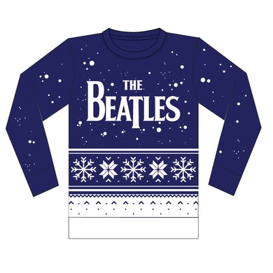 The Beatles Snowflake Holiday Jacquard Knit Sweater