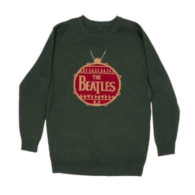 The Beatles Ornament Holiday Jacquard Knit Sweater
