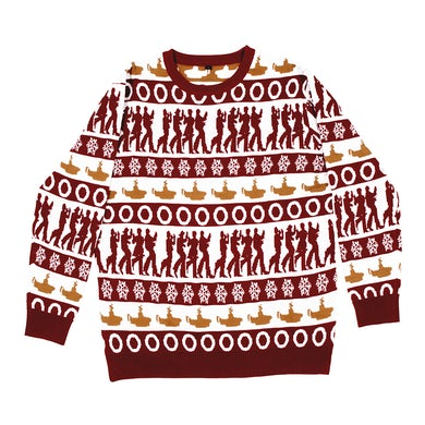The Beatles Yellow Submarine Holiday Jacquard Knit Sweater