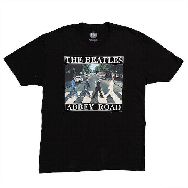 The Beatles Abbey Road Bar Color Black T-Shirt