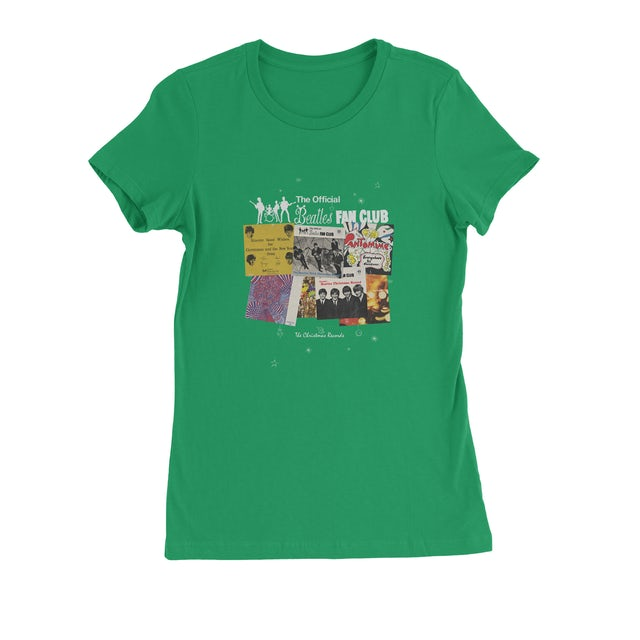 The Beatles Christmas Singles Green Juniors T-Shirt