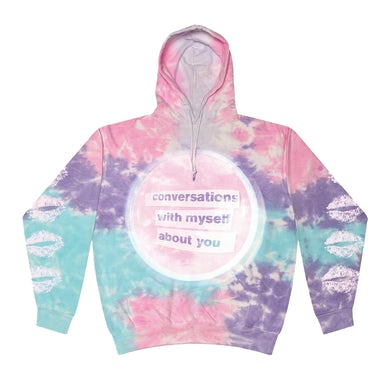 lovelytheband conversations with myself about you Tie Dye Hoodie
