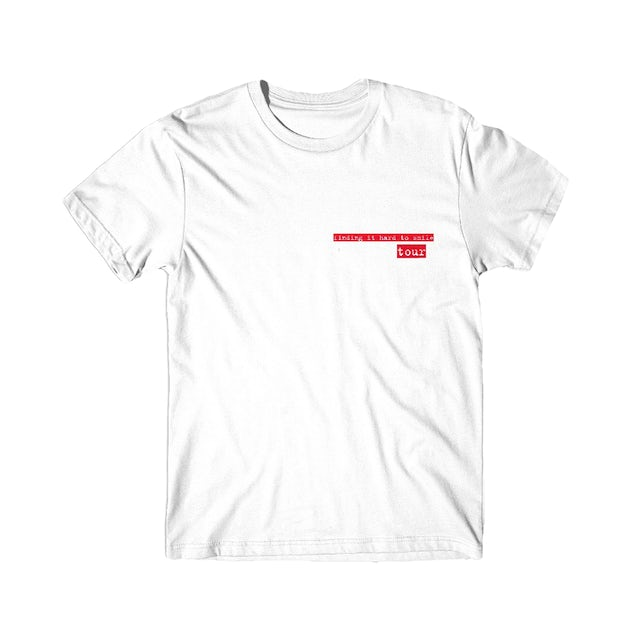 lovelytheband finding it hard to smile tour t-shirt