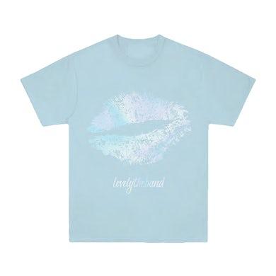lovelytheband foil lips Blue T-Shirt