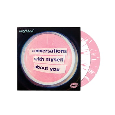lovelytheband conversations with myself about you White/Pink Slatter 2 LP (Vinyl)
