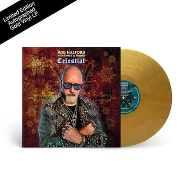 Rob Halford Celestial Autographed Gold LP - Only 200 Remain! (Vinyl)