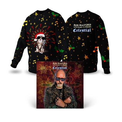 Rob Halford Celestial Knitted Christmas Sweater + Digital Download