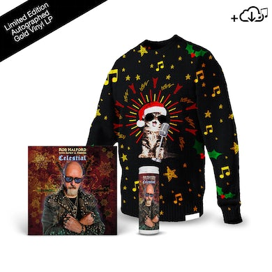 Rob Halford Celestial + Knitted Christmas Sweater + Prayer Candle
