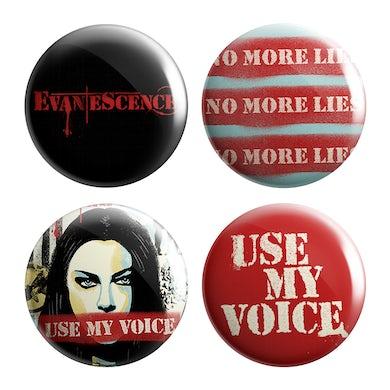 Evanescence Use My Voice Pin Set