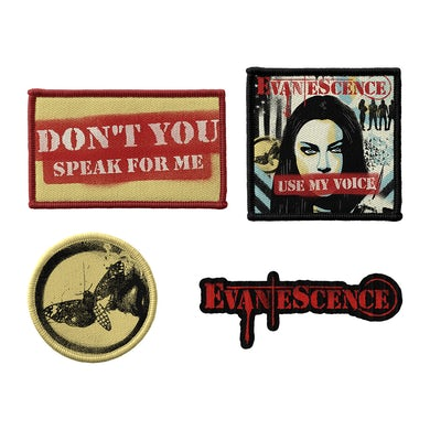 Evanescence Use My Voice Printed Patch Set