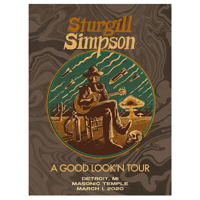 Sturgill Simpson Detroit Night Two Lithograph