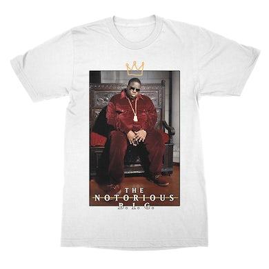 The Notorious B.I.G. Biggie Crown Throne White T-Shirt