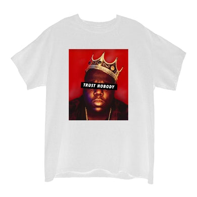The Notorious B.I.G. Trust Nobody White Junior's Boyfriend T-Shirt