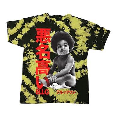 The Notorious B.I.G. Biggie Baby Kanji Tie-Dyed T-shirt