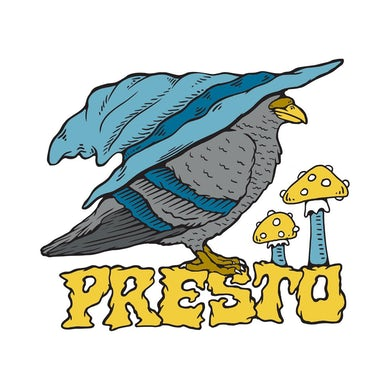 Pigeons Playing Ping Pong Presto Sticker