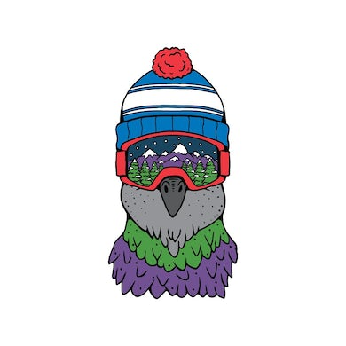 Pigeons Playing Ping Pong Goggle Bird Sticker