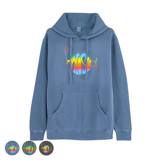 Phish Classic Rainbow Heavyweight Washed Pullover Hoodie