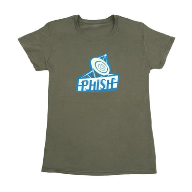 Phish Women's Radio Daze T-Shirt on Army Green