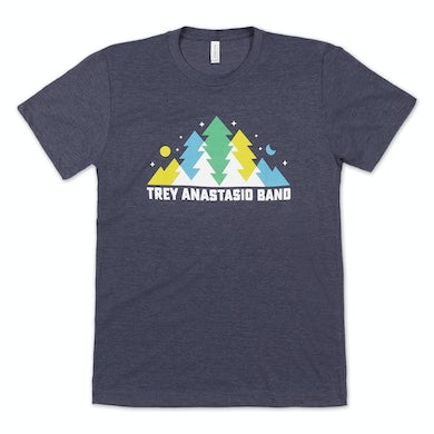 Trey Anastasio Band In The Pines T on Tri-Blend Heather Navy