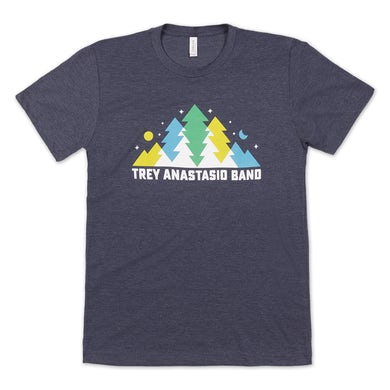 Band In The Pines T on Tri-Blend Heather Navy