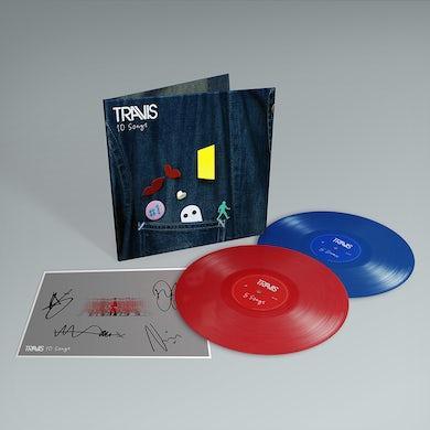 Travis 10 Songs -  Deluxe Double Colored Vinyl + Signed Art Print + Bonus Disc including Album Demo's