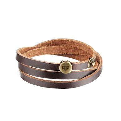 Reba Mcentire Logo Leather Bracelet
