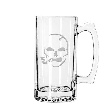 Slightly Stoopid Smoking Skull Glass Mug