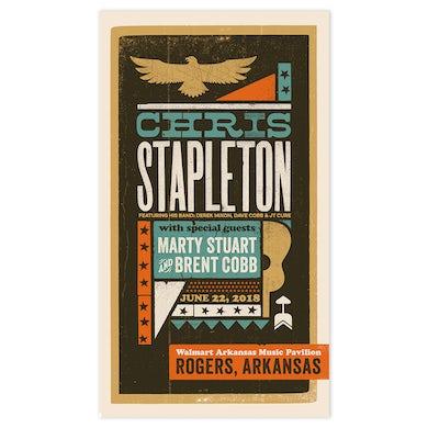 Chris Stapleton Show Poster – Rogers, AR 6/22/18