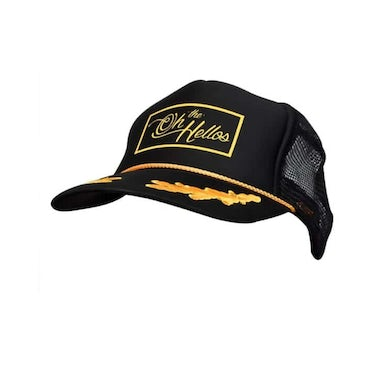 OH HELLOS Black With Gold Leaf Cap