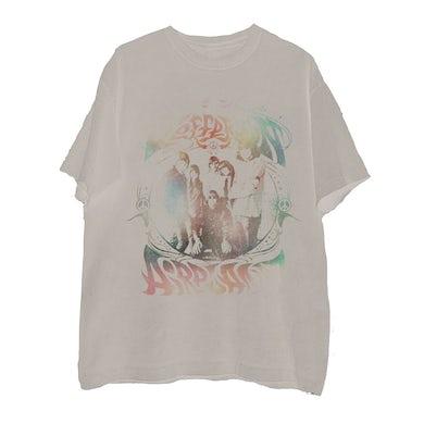 Jefferson Airplane Rainbow Band Photo Natural T-Shirt