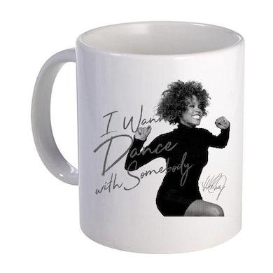 Whitney Houston I Wanna Dance Black & White Ceramic Mug
