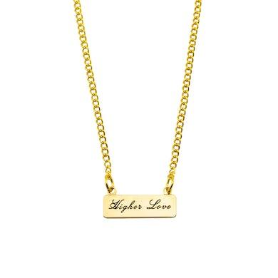 Whitney Houston Higher Love Banner Necklace