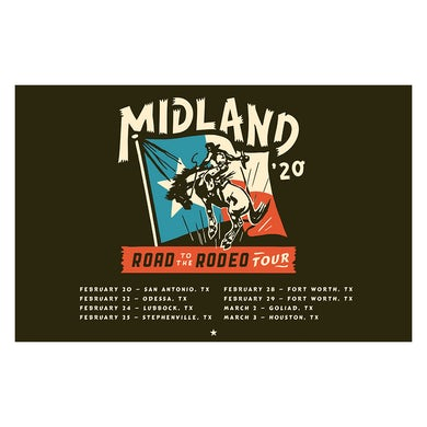 Midland Road to the Rodeo Lithograph