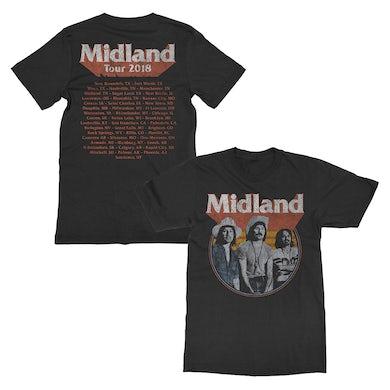 Midland Distressed Photo Dateback T-shirt