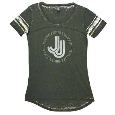 JJ Grey Stripe Jersey Tee