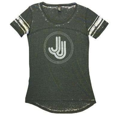 Jillian Jacqueline JJ Grey Stripe Jersey Tee