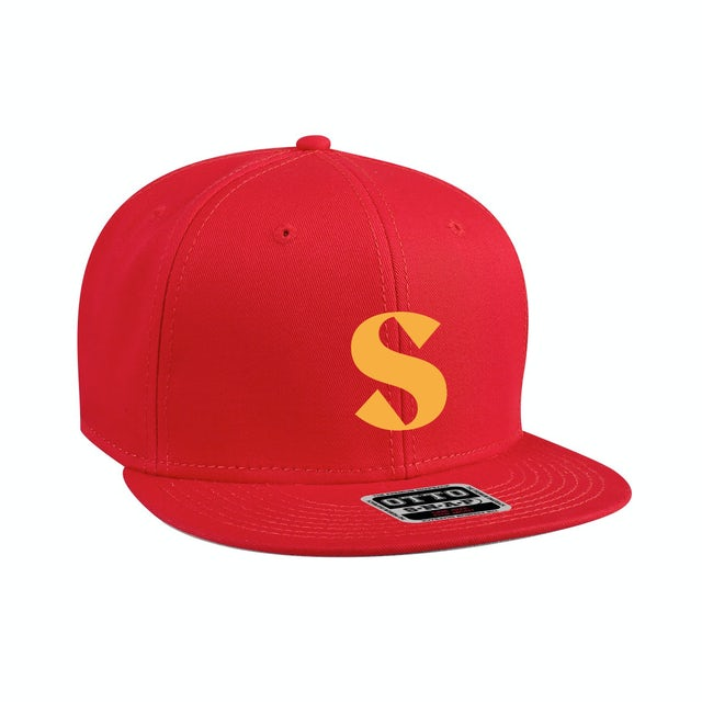 Sam Hunt Red Embroidered Flat Brim Hat