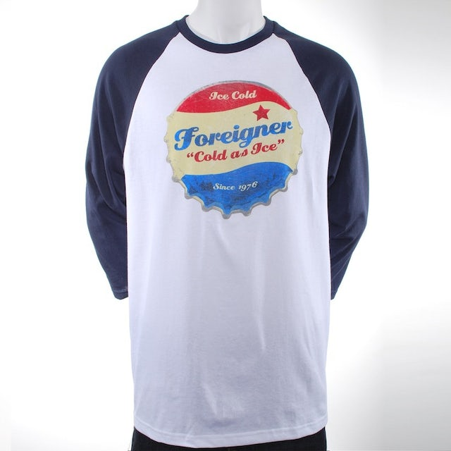 Foreigner Cold As Ice Raglan T-Shirt