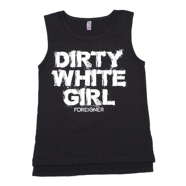 Foreigner Women's Dirty White Girl Pocket Tank