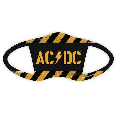 AC/DC POWER UP Caution Tape Face Covering