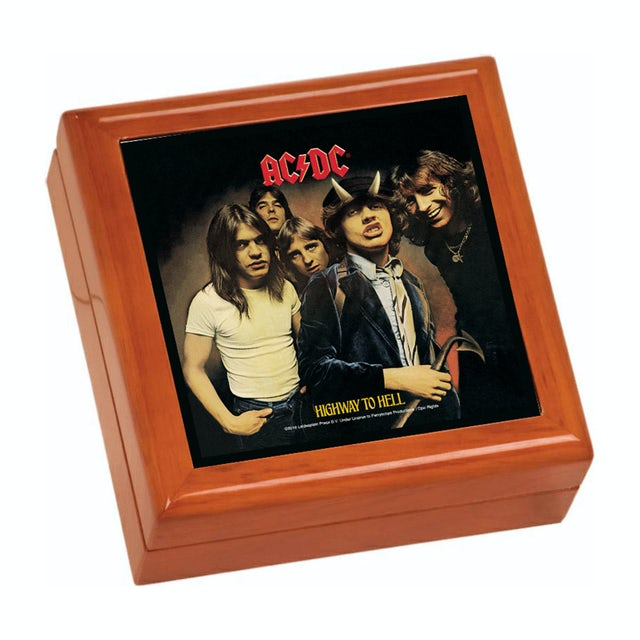 AC/DC Highway To Hell Wooden Keepsake Box