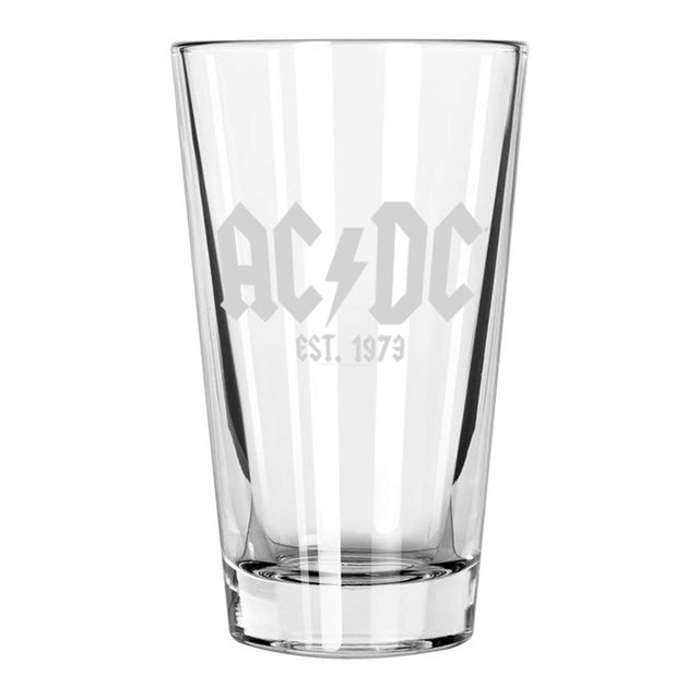 AC/DC Est. 1973 Etched Pint Glass