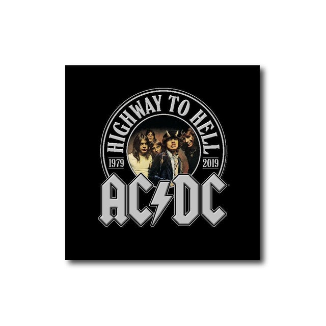 AC/DC Highway To Hell 40th Anniversary Square Magnet