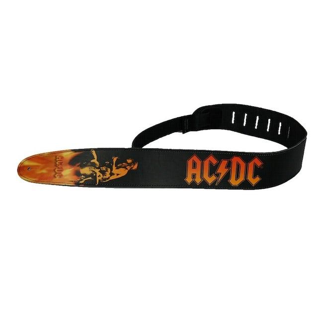 AC/DC Leather Bonfire Guitar Strap