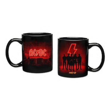 AC/DC POWER UP 11oz Black Logo and Band Coffee Mug