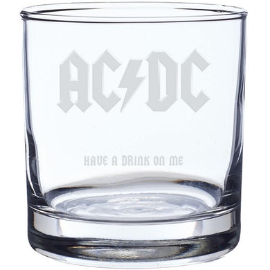 AC/DC Have A Drink On Me Laser-Etched Whiskey Glass