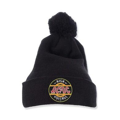 AC/DC Pom-Pom Knit Beanie