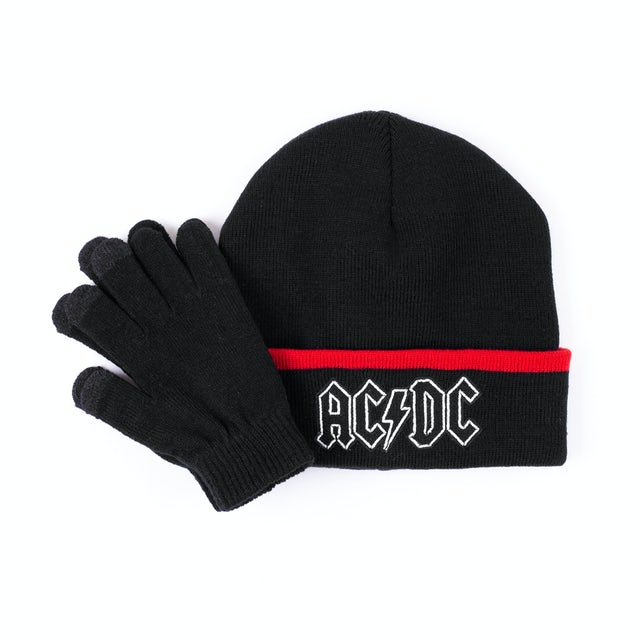 AC/DC Beanie and Glove Set