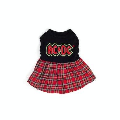 AC/DC Doggie Plaid Skirt