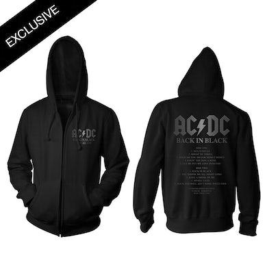 AC/DC Back in Black 40th Anniversary Date Zip Hoodie